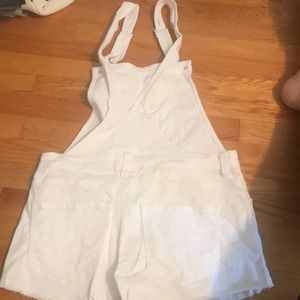 Forever 21 Jeans - White short overalls